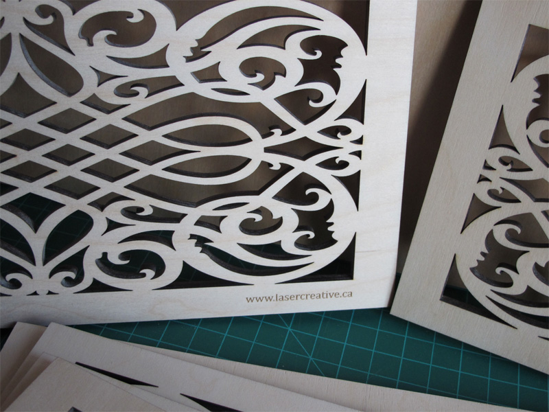 Laser Creative - Custom laser cut wood grate covers